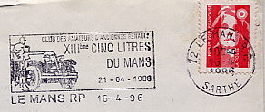 vintage car stamp