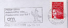 comic strip on stamps