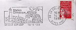 fruits on stamps