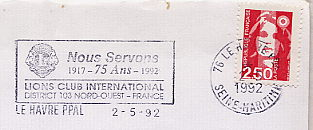 lions club on stamps