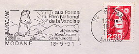 mountains on stamps