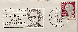 music composer on stamp