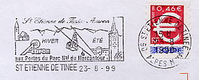 skiing on stamps