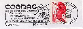 stamps with wine