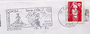 wine on stamps